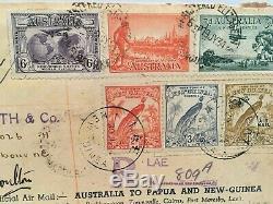 1934 Australia to Papua New-Guinea & RETURN signed Ulm, Allan and Boulton