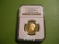 1975 Papua New Guinea. 900 Gold 100 Kina. 2769 oz. NGC PF69 Ultra Cameo