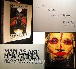 1981 Papua New Guinea Art Signed Malcolm Kirk South Pacific Ethnography