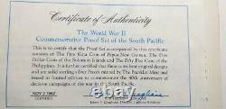 1982 World War II Proof Set (Philippines, Papua New Guinea, Solomon Islands)