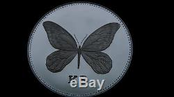1992 Papua New Guinea 5 Kina Alexandria Butterfly Silver Proof Coin RARE