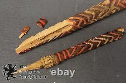 2 Adze + Pick Papua New Guinea & Ceremonial Axe Holder Tool Primitive Tribal Vtg