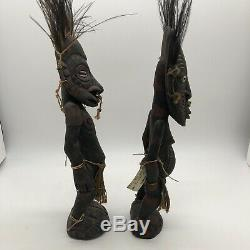 2 Vintage Ancestor figure Mindimbit Papua New Guinea Sepik Spirit Tribal Art