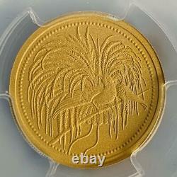 2020 Papua New Guinea 100 kina Matte proof gold coins Bird of paradise PR70