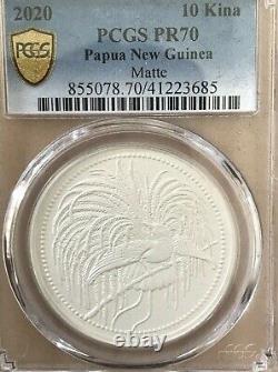2020 Papua New Guinea 1oz Silver Bird Of Paradise MATTE PROOF PR70 PF70 PCGS COA