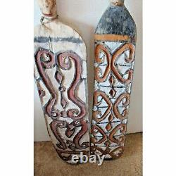 65 Asmat Papua Traditional West New Guinea Indonesian Shields Set of 3