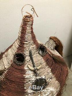 Amazing PNG Ceremonial Headpiece Excellent Duk Duk Papua New Guinea RARE asmat