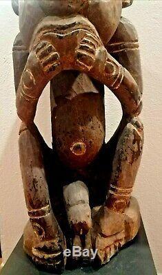 Ancestor Statue with giant phallus, Mindimbit Village, Papua New Guinea