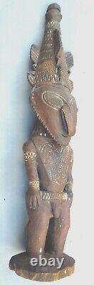 Ancestral Figure Male Fertility Statue Handcarved Ramu River P. New Guinea Ethnix