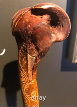 Ancien Dague Abelam en os, Abelam Cassowary dagger in bone Papua New Guinea