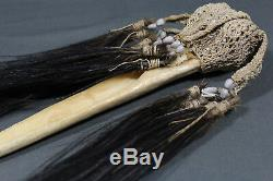 Antique Asmat cassowary bone dagger Papua New Guinea Early 20th