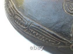 Antique Papua New Guinea Sepik River Boiken Offering Plate Carved Bowl PNG