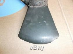 Antique Papua New Guinea Stone Ax Axe, Wood Handle, Display Piece, 16 x 15.5