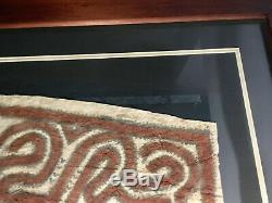 Antique Tapa Bark Cloth from Papua New Guinea South Pacific