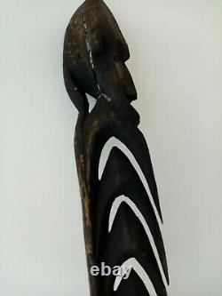 Antique Wooden Tribal Papua New Guinea Hook Statue