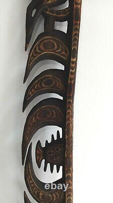 Antique Wooden Tribal Papua New Guinea Statue Carving