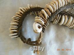 Antique old Papua New Guinea conus shell money currency necklace 65 cm