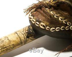 Asmat Bone Dagger Papua New Guinea Sepik River Ceromonial Knife VTG
