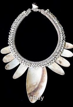 Asmat Tribal Papua New Guinea Shell Necklace Ethnic Traditional Art Hand Made