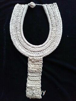 Asmat Tribal Shell Skull Necklace Papua New Guinea Art Hand Made