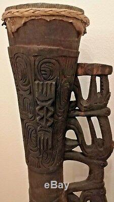 Asmat Wooden Drum Irian Jaya, Papua New Guinea