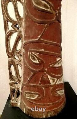 Asmat Wooden Drum, Irian Jaya, Papua New Guinea Art