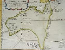 Australia, New Zealand, J. N. Bellin, 1753, Carte Reduite des Terres Australes