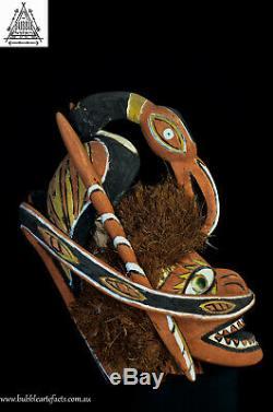 Beautiful Malagan Funerary Canoe Spirit Mask, Kavieng, PNG, Papua New Guinea