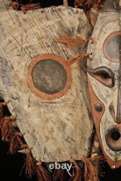Bouclier de pirogue, canoe shield, oceanic art, primitive art, papua new guinea