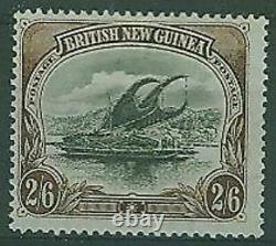 British New Guinea Papua SG 16a 2s 6d black and brown Thin paper Lakatoi MLH