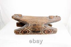 Carved Wooden Stool Headrest Canoe Vintage Rare Papua New Guinea Sepik Asmat
