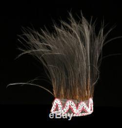 Coiffe de danse en plumes des Highlands, dancing headdress, papua new guinea