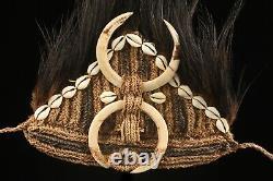 Coiffe de danse en plumes du sepik, dancing headdress, papua new guinea