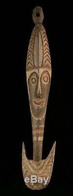 Crochet de suspension, papuan hook, art tribal océanien, papua new guinea