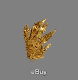 Crystallised Gold from Wau, Papua New Guinea