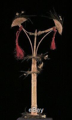 Dancing stick, oceanic tribal art, sepik ornament, papua new guinea
