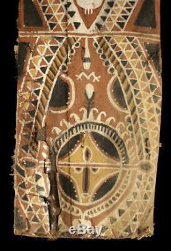Ecorce peinte Abelam, painted sago bark ceiling, oceanic art, Papua New Guinea