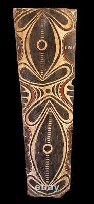 Ecorce peinte Kwoma, painted sago bark ceiling, oceanic art, Papua New Guinea