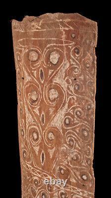 Ecorce peinte, painted sago bark ceiling, oceanic art, Papua New Guinea