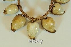 Exotic Ovula Seashell necklace, Papua New Guinea, Tribal Art