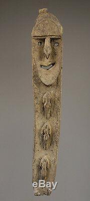 Figure Minja, art tribal océanien, mont waskuk, kwoma figure, papua new guinea