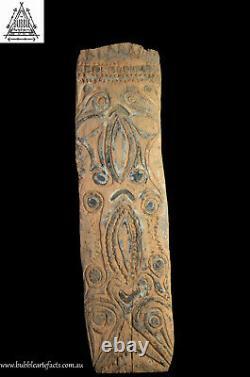 Fine Vintage Abelam Carved House Panel, Maprik Area, Papua New Guinea, PNG