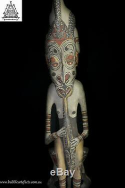 Fine Wapi Creation Myth Bird Totem, Black Water, PNG, Papua New Guinea, Oceanic