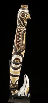 Gogodala figure, western province, oceanic tribal art, papua new guinea