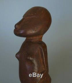 Good Oceanic Polynesian Papua New Guinea Massim Standing Figure Carved Hardwood