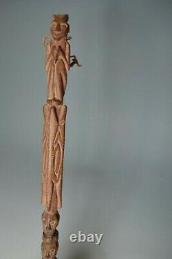 Good carved Tribal ladle Papua new guinea Oceanic Polynesian Australian