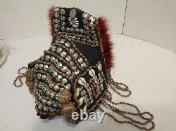 HEADDRESS Papua New Guinea Tribe Currency Wealth Headdress VINTAGE