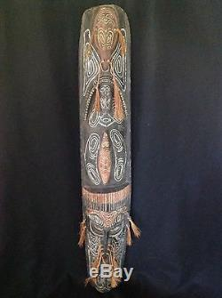 Large 58 Vintage Tribal Papua New Guinea (Indonesian) Wood Carving