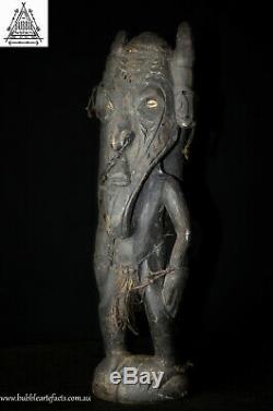 Large Demon Spirit Man/Crocodile Ritual Totem, Sepik, Papua New Guinea, Oceanic