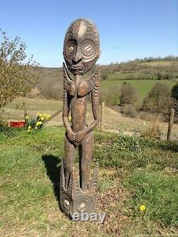 Large Female Sepik Spirit Figure From Papua New Guinea